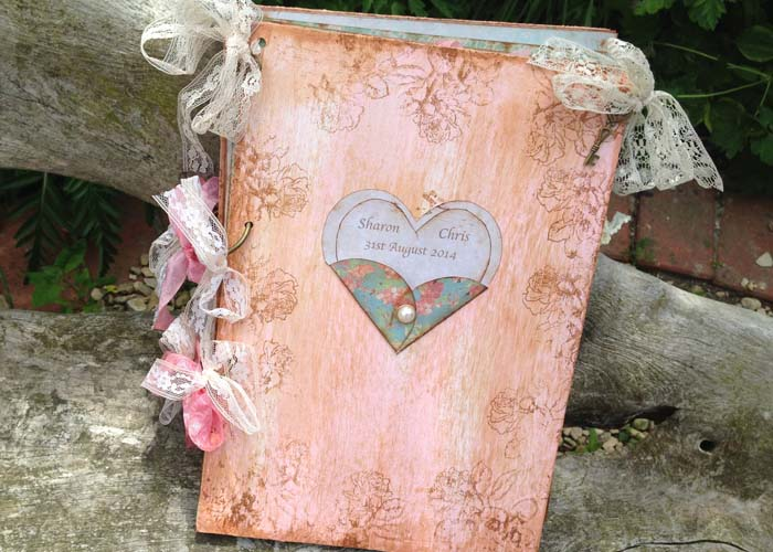 Love Heart Wedding Guest Book