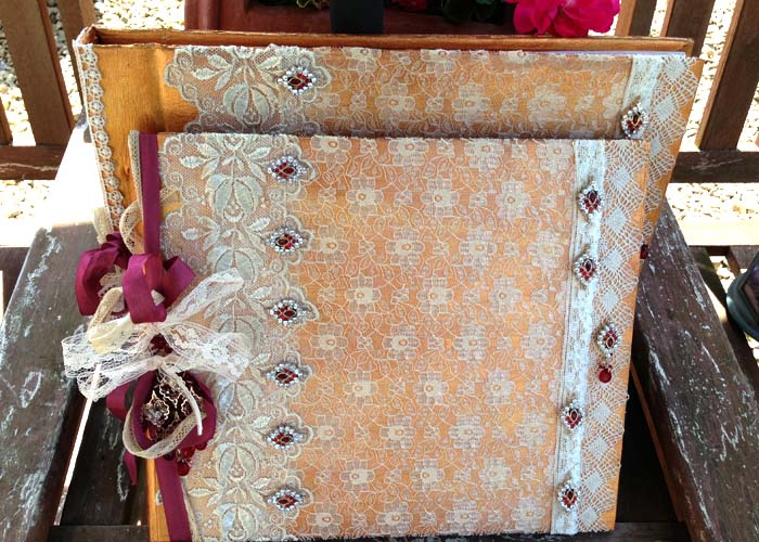 Wedding Guest Book And Photograph Album- Indian Inspired Vintage ...