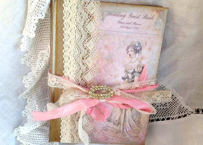 Wedding Guest Book - Jane Austin Theme Vintage Style - 60 Page on Luulla