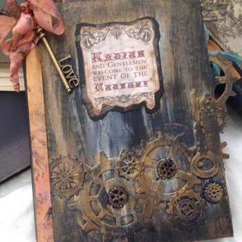 Steampunk Wedding Guest Book - 24 pages