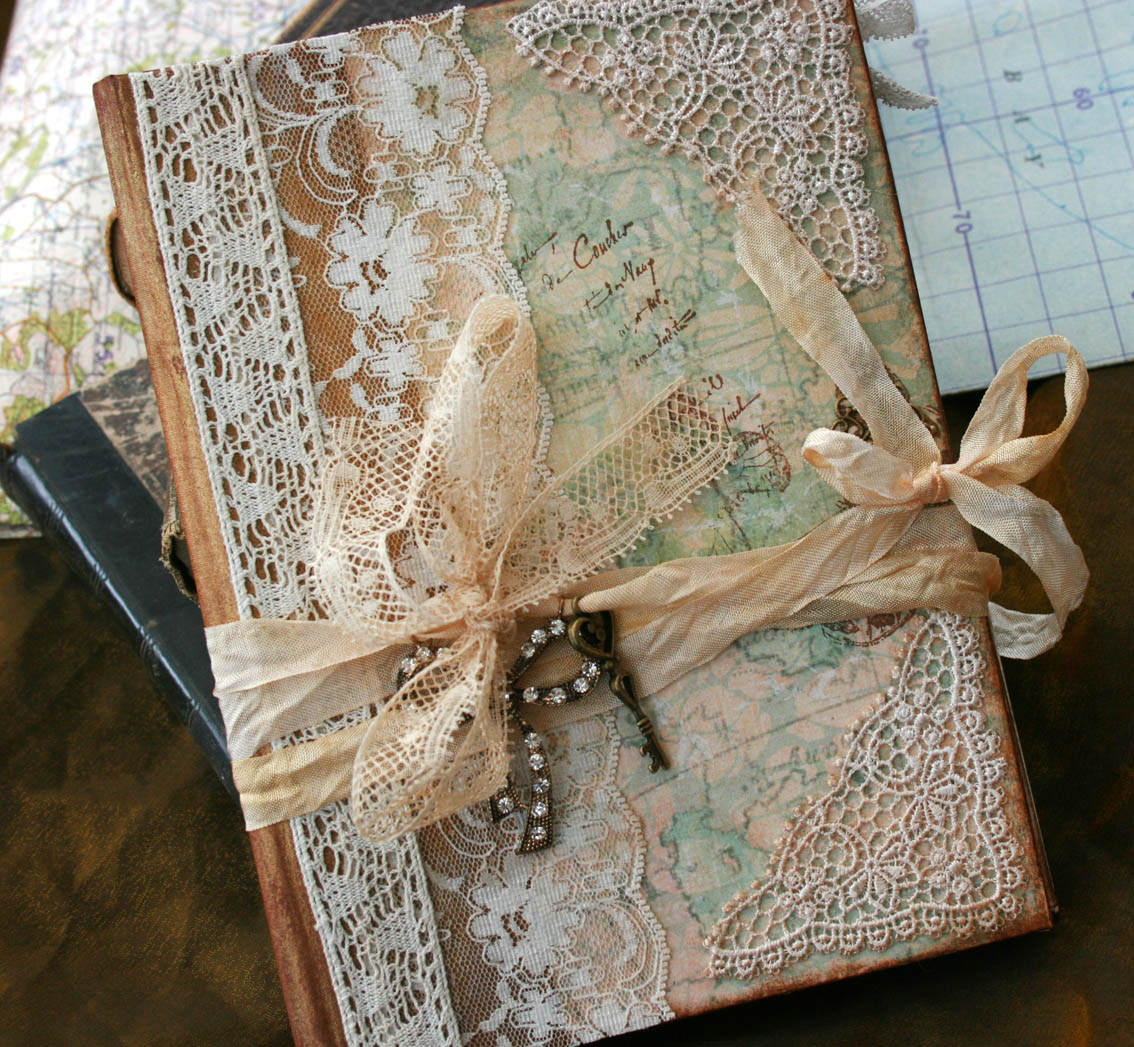 877227eeadf7 Wedding Guest Book - Our Journey Of Love - Vintage Style - Custom Made -  Has 24 Pages on Luulla
